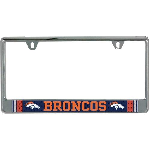 NFL Glitter Bling Chrome Plate Frame  amazoncom