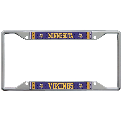 Minnesota Vikings Jersey Acrylic Cut License Plate