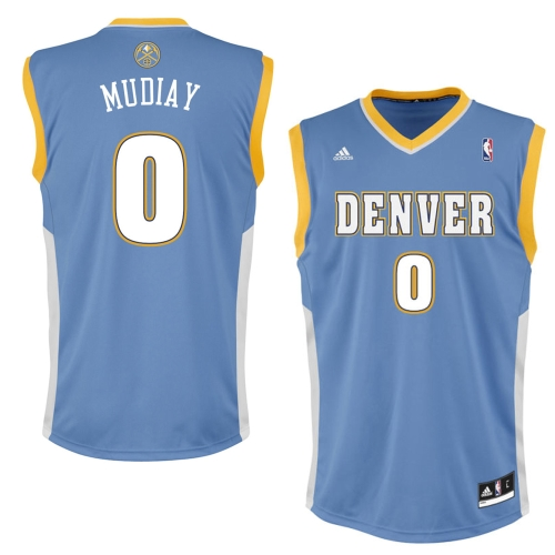 Denver Nuggets White Jersey: Adidas Emmanuel Mudiay Denver Nuggets Powder Blue 2015 NBA